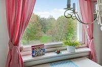 Härlig utsikt från köksfönstret