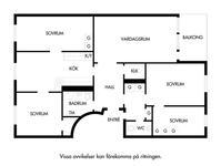 Korrigerad planlösning för Stamgatan 50, 1 tr , OBS Notera att Tvättmaskinen ej kommer att lämnas kvar
