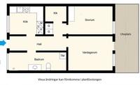 Planlösning för Eldsbergagränd 34
