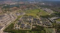 Flygbild över Östberga