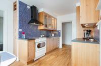 Läcker mosaik mot det fina köket