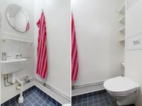 Toalett i uthyrningsdelen